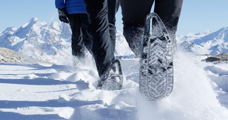 EVVO Snowshoe des raquettes à neige brevetée sans spattule avant