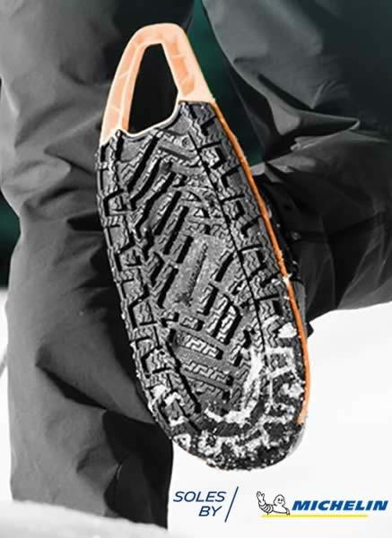 Adhérences raquettes à neige evvo snow fabriquées par Michelin